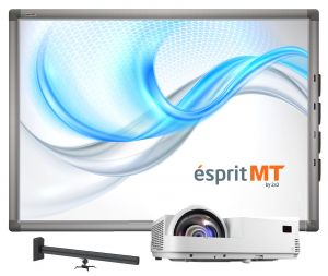 Zestaw ésprit MT Wall -WER II (Esprit MT80″, projektor short throw Optoma X305ST, uchwyt US1)